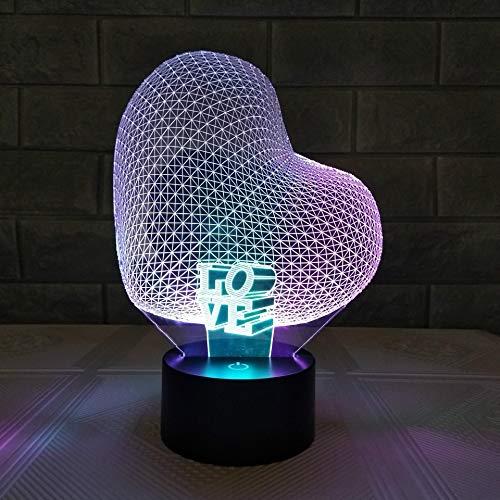 Warme Nacht 3D USB Schlafzimmer Lampe Led Liebe Fantastische bunte Neuheit USB 3D USB Nachtlicht Lamparas De Mesa Schreibtisch Tisch Tamp