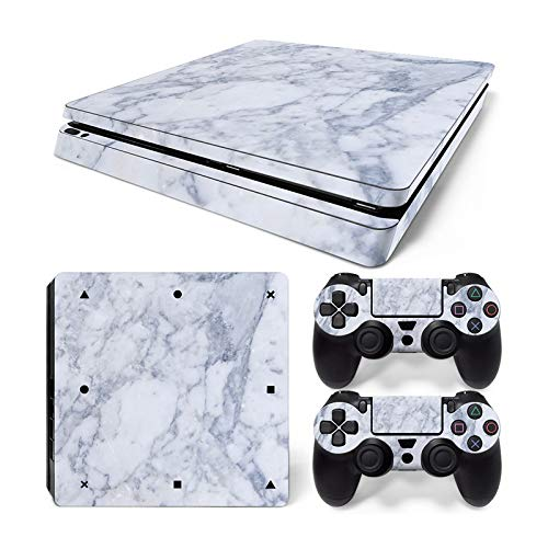 Mcbazel Pattern Series Vinyl Skin Sticker For PS4 Slim Controller & Console Protect Cover Decal Skin (Marble)