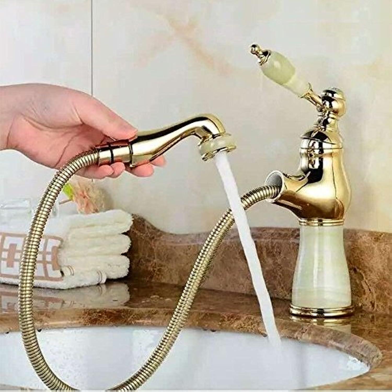 MNLMJ Moderne einfacheKupfer hei und kalt Spülbecken Wasserhhne Küchenarmatur Wasserhahn Badezimmer vollKupfer Waschbecken abnehmbar Waschbecken Wasserhahn Geeignet für alle Badezimmer Spülbecken