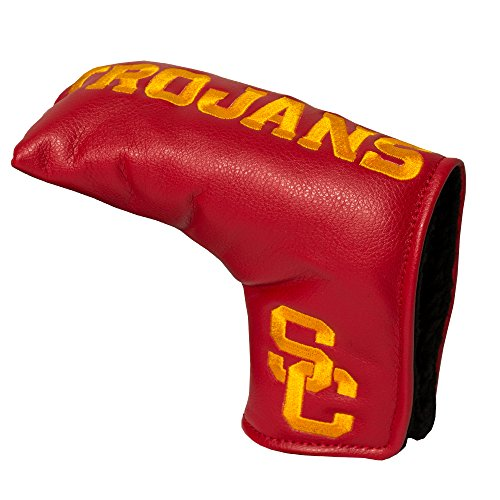 Team Golf NCAA USC Trojans Golf Club Vintage Blade Putter Headcover, Form Fitting Design, Fits Scotty Cameron, Taylormade, Odyssey, Titleist, Ping, Callaway