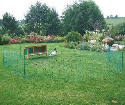 Ellofence Kleintier Weidezaun mit Weidezaunnetz für Kaninchen Hunde Katzen Kleintiere - 4