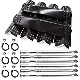 Replacement Parts for Nexgrill 720-0896B 720-0896C 720-0896E Deluxe 6 Burner Gas Grills, 6 Pack Burner Tubes, Grill Ignitors, Flame Tamers Replacement for Nexgrill 720-0882A 720-0896 720-0925 Grills