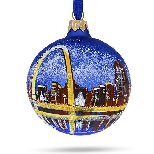 BESTPYSANKY Gateway Arch, St. Louis, Missouri Glass Ball Christmas Ornament
