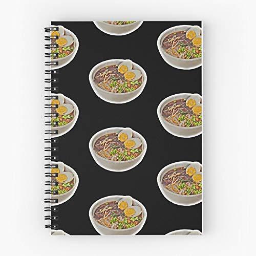 Japan China Noodles Noodle Asia Chinese Food Asian Nettes Schul-Fünf-Sterne-Spiral-Notizbuch mit haltbarem Druck