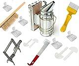 Beekeeping Tools Kit -15 Pcs. -Bee Hive Smoker, Beekeeping Accessory -Bee Keeping Tool