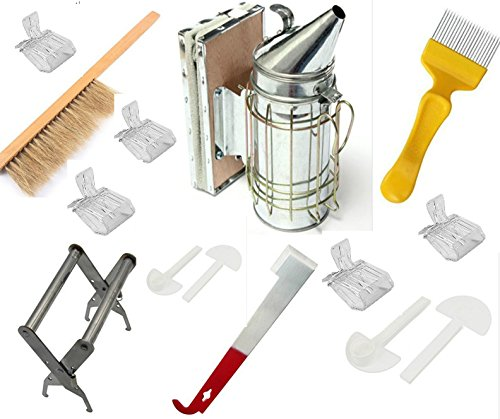 Beekeeping Tools Kit -15 Pcs. -Bee Hive Smoker, Beekeeping Accessory -Bee Keeping Tool