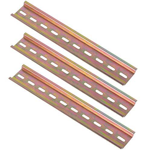Riel DIN JPYH, 5 unidades, carril DIN de alta calidad, color acero, para armario de distribución, empotrado, 35 mm de ancho, 7,5 mm de alto, largo 200 mm