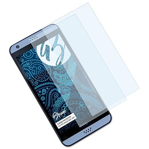 Bruni Schutzfolie kompatibel mit HTC Desire 530/630 Folie, glasklare Bildschirmschutzfolie (2X)