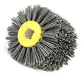 Weikeya - Rueda de pulido grande, rueda de dibujo, cepillo de suelo de madera para eliminar el óxido de los suelos de madera Dupont Silk Made