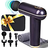 Muscle fascial Gun for Athletes, Deep Tissue Percussion Massager Device, High-Intensity Vibration Cordless Handheld Massaging Gun with 6 Heads for Neck, Back, Shoulder Relief Soreness and Stiffness