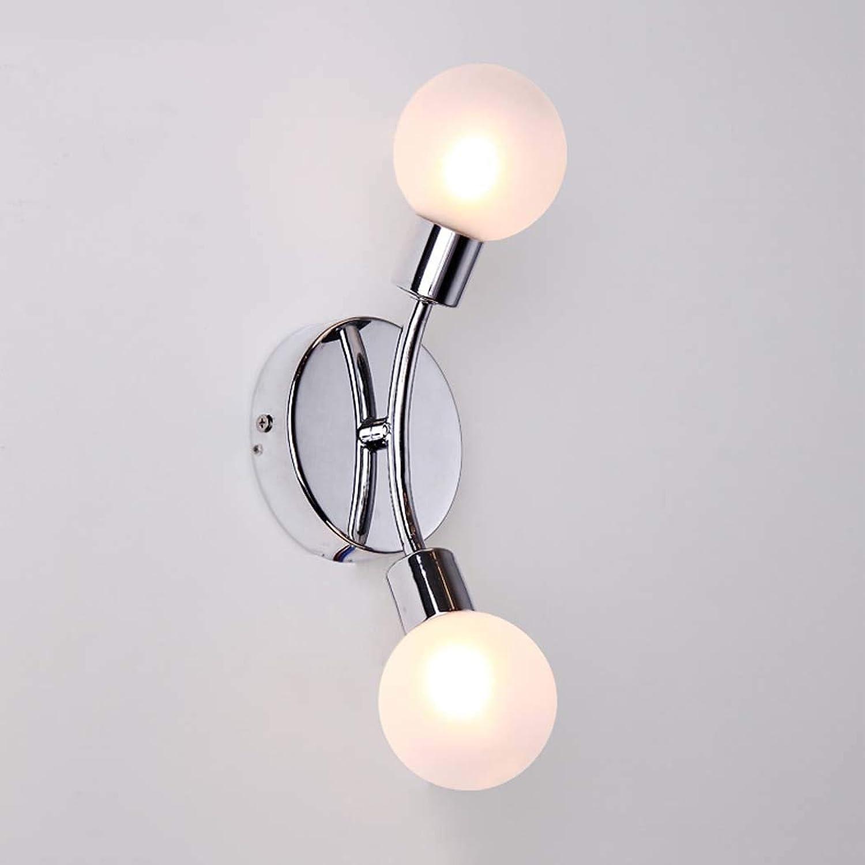 Vintage Ball Glas Wandleuchte Licht Antike Wandleuchte Leuchten Innen Moderne Nachttischlampe Für Büro Schlafzimmer Coffee Shop Flur (gre   Double head)