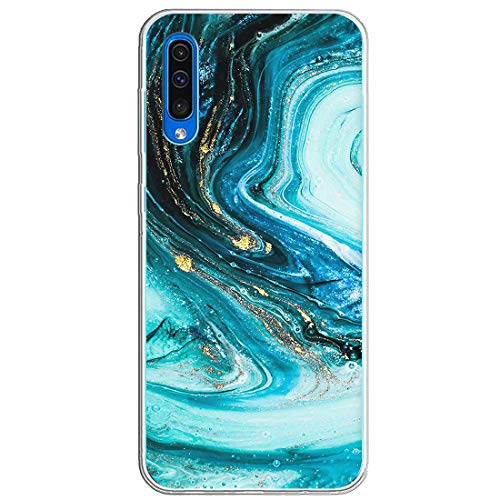 Croachi Hülle Kompatibel mit Samsung Galaxy A70 Hülle Transparent TPU Silikon Ultra Dünn Slim Galaxy A70 Handyhülle Crystal Stoßdämpfend Antikratz Bumper Schutzhülle Tasch-Blume Muster (B)