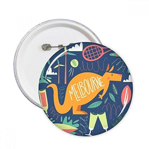 Melbourne Australien Känguru Tennis Surfen rund Pins Badge Button Kleidung Dekoration Geschenk 5X L