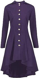 Jackets for Women Fashion Womens Steampunk Lace Up Hooded Trench Coat Jacket Blazer Tops Outwear Cardigan Daorokanduhp