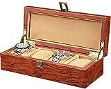 DGHJK 4-Slot Case Display Aufbewahrungsbox Uhr Metallknopf Geschenk Juweliergeschäft Armband...