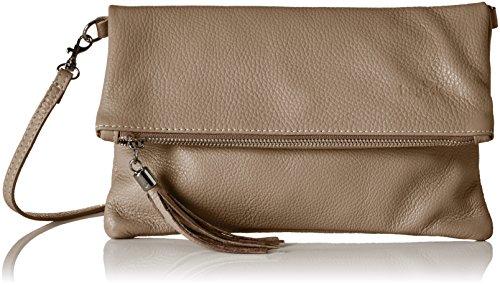 Bags4Less Damen Luna Clutch, Braun (Taupe), 2x18x28 cm