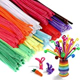 Liangfen Kids' Bendable Sculpting Sticks-100 Pcs Rainbow Fuzzy Sticks,Pipe Cleaners /Craft Supplies Chenille...