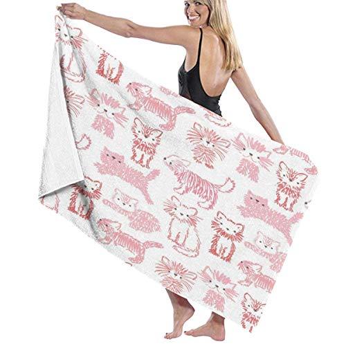 Jupsero Toallas multiusos lindas de las fibras del gatito de la hoja de baño/toalla de playa/toalla de baño