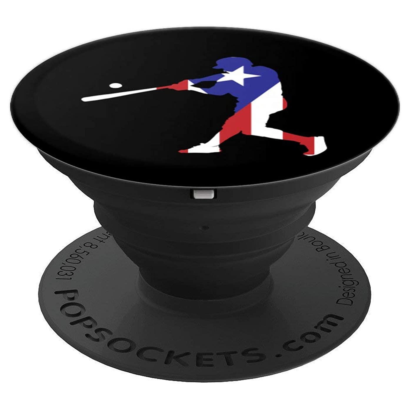 Puerto Rico Baseball Art   Cute Famous Island Game Gift - PopSockets Grip and Stand for Phones and Tablets
