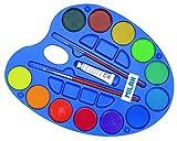 Milan 054412 - Paleta de acuarelas con 12 pastillas y 2 pinceles