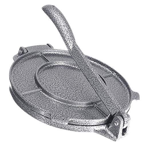 Moligh doll Tortilla-Presse, 20,3 cm, Aluminiumlegierung, faltbar, Tortilla-Presse, antihaftbeschichtet, für die Küche