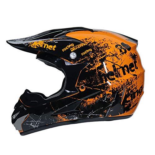 Motorradhelm,Herren Anti-Shock Vollgesichts-Motorradhelme mit Abnehmbarer Motocross-Kappe für den Außenbereich Mountain Road Moto Zubehör