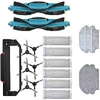 ホームクリーニングメインサイドブラシの使い捨てモップragフィットViomi V2 Pro V3 MOPフィルターHEPA V-RVCLM21Bアクセサリーロボット掃除機クリーナー部品(カラー:ブラックブルー) (Color : Black Blue)
