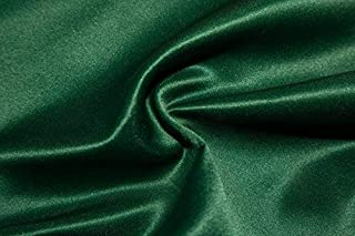 """Bridal Satin Fabric Shiny Heavy Weight 56"""" - 58"""" Wedding Dress Sewing By The Yard (Forest Green)"""