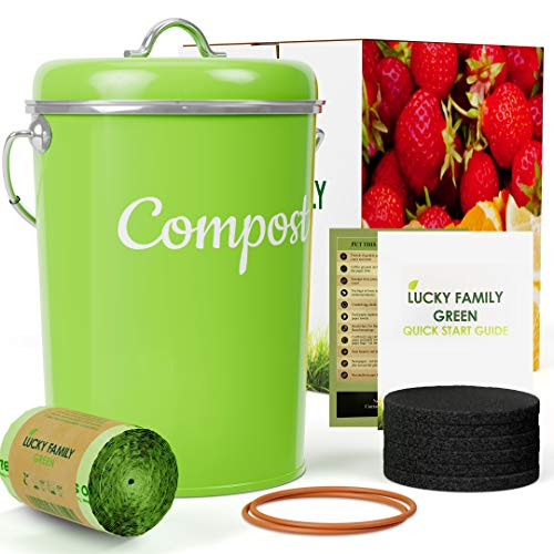 Why Should You Buy Kitchen Compost Bin Container - 1.3 Gallon Indoor Countertop Composter Sealed wit...