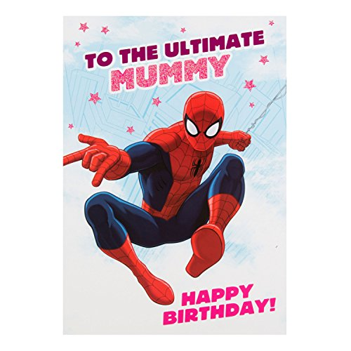Hallmark Spiderman Mummy Verjaardagskaart 'Je bent de beste' - Medium