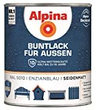 Buntlack für Außen Ral 5010 Enzianblau seidenmatt 750 ml