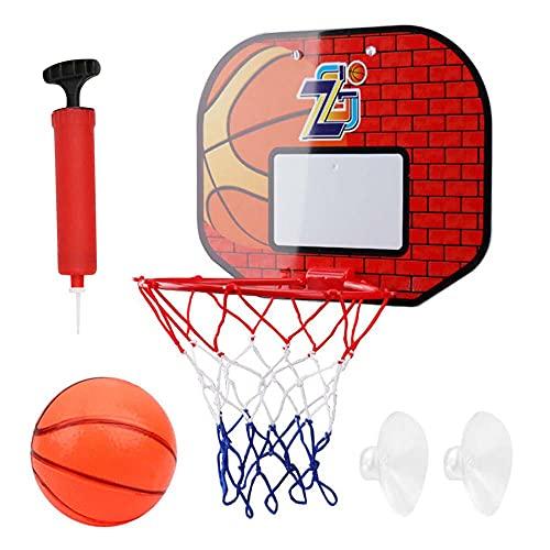 FXQIN Canasta de Baloncesto Infantil Portátiles Juguetes con Ventosa, Pelota y Bomba Basketball Hoop Juego De Baloncesto para Niños y Adultos Aro De Baloncesto con Red