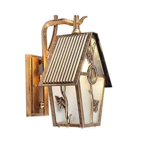 Lámpara de Pared Para Exteriores Jardín Corredor lámpara de pared de la pared del estilo retro europeo Villa al aire libre impermeable de la lámpara creativa Hierro forjado al aire libre jardín al air