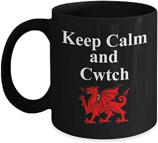 Keep Calm and Cwtch Mug Welsh Hug or Cuddle Wales Gift Ceramic Coffee Tea Cup