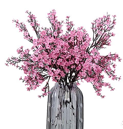 JAKY-Global 6 unidades de flores artificiales de seda falsa secas, flores de...