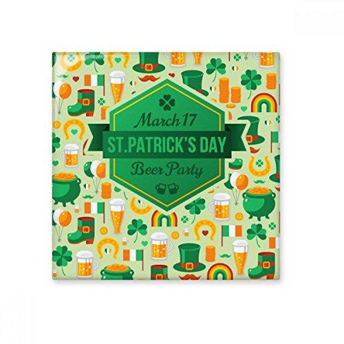 Vier Blad Klaver Bier Vlag Boot Baard Regenboog Ierland St.Patrick's Day Keramische Bisque Tegels voor het verfraaien Badkamer Decor Keuken Keramische Tegels Wandtegels Medium