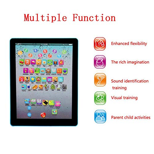 Goodfans 7.3x5.5x0.8inch Kids Pad Toy Pad Computer Tablet Education Learning Education Machine Touch Screen Tab Electronic Systems