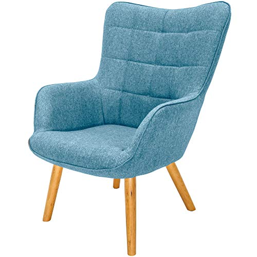 Invicta Interior Design Armlehnen Sessel Scandinavia hellblau Buche Scandinavian Design Fernsehsessel Wohnzimmersessel
