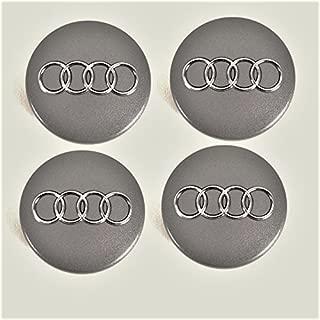 caches Central 4b0601170/a Libra 4/Bouchons de Centre de Roue Compatible 69/mm Argent Blanc Mat//Chrome Audi A3/A4/A5/A6/A7/TT Q3/Q5/Q7/Jantes en Alliage Clous A