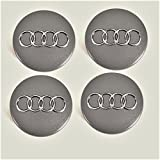 Tapas de buje 4B0601170para Audi, set de 4piezas gris metálico 60mm, juego de 4x unidades, tapacubo, llanta, tapa para llanta
