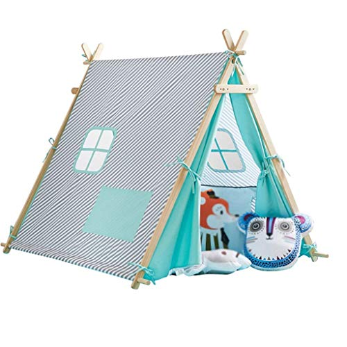 Kids Tent, Tents Large Tent House With Solid Wood Brackets, Indoor Decorative Tent Children's Play Tent Cartoon Playhouse - Adjustable Width Design - Kids Teepee (Color : A, Size : 124 * 140 * 125CM)