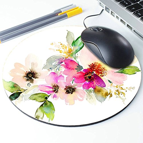 Beautiful Watercolor Flower Round Mouse pad Customized Non Slip Rubber Round Mouse pad Non Slip Rubber Mouse pad Gaming Mouse Pad Photo #6