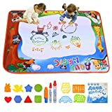 Conthfut Aqua Magic Mat Water Doodle Mat 9 Colors Doodle Drawing Mat Educational Toys for Age 2 3 4 5 6 7 8 9 10 11 12 Year Old Girls Boys Age Toddler Gift