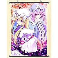 壁の巻物のポスターアニメ漫画のキャラクター布掛け絵画家の装飾アニメ-ファンギフト 東方Project 50x75cm