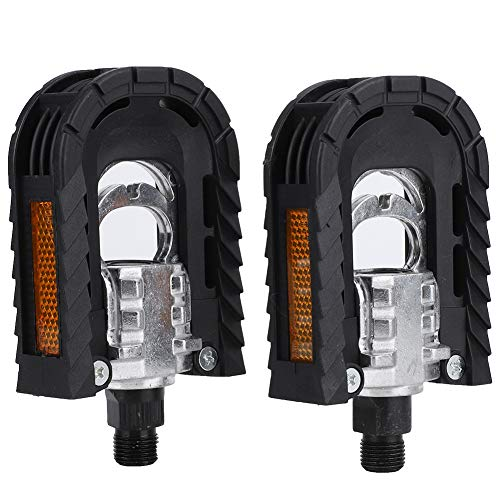 Queen.Y Bike Pedals,Bicycle Replacement Part Accessory 1 Pair Foldable Lightweight Road Bike Pedals for Folding car, Mountain Bike, Road car can be Used
