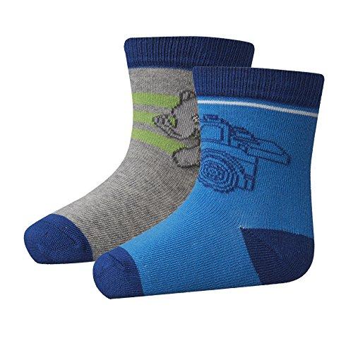 Lego Wear Jungen LEGO duplo AMIR 402 Socken, Blau (Dark Blue 578), 22 (Herstellergröße: 22/24) (2er Pack)
