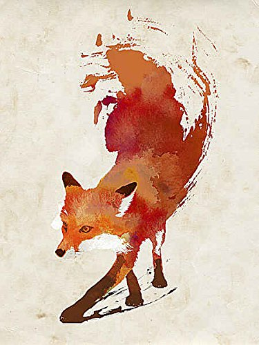 Vulpes Vulpes Robert Farkas Illustration Fantasy Animal Fox Poster, Overall Size: 20x26, Image Size: 18x24