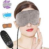 Masque pour les yeux chauffant Masque pour les yeux chauffé à la lavande, masques à vapeur chaude Aceoce Portable Masque à vapeur chauffant USB réglable et chaud