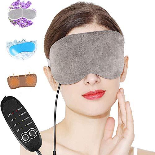 Lavendel Beheizte Augenmasken, USB Hot Steam Schlaf Augenmaske zu entlasten Geschwollene Augen Dunkle Kreis Augen trockene Augen Blepharitis Stress müde Augen Temperaturregelung Timing einstellbar