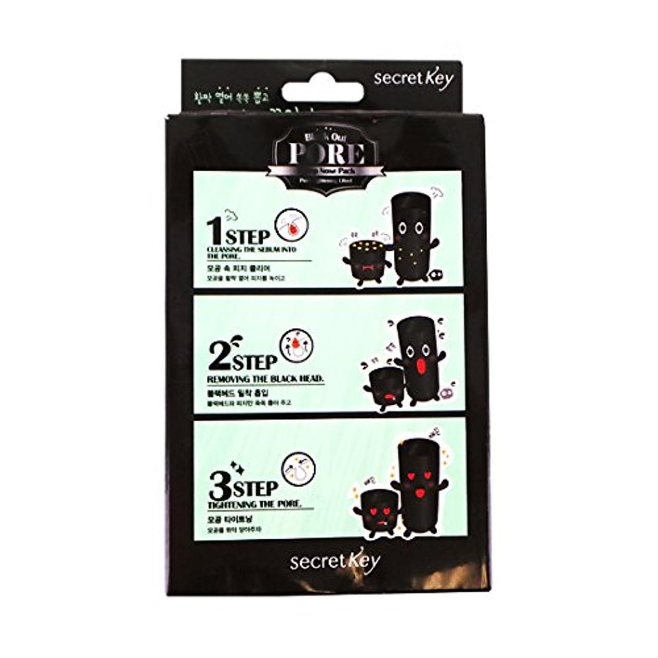 アンビエントレンディション南アメリカSECRET KEY Black Out Pore 3-Step Nose Pack (Pack of 5) (並行輸入品)